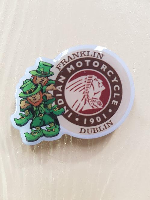Franklin Motorcycles Happy Leprechauns Pin