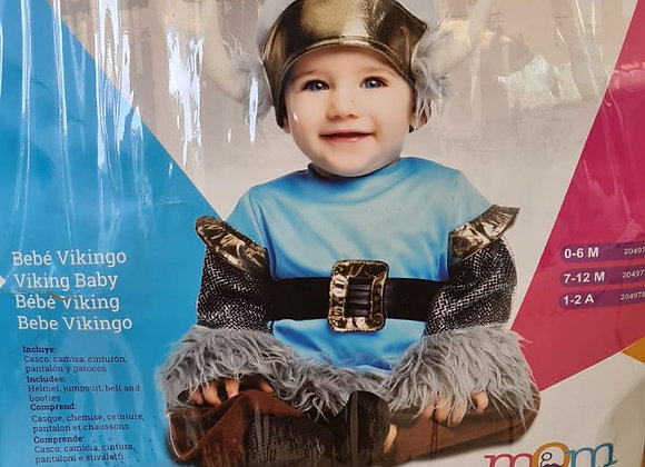 Disfraz vikingo 6-12 meses