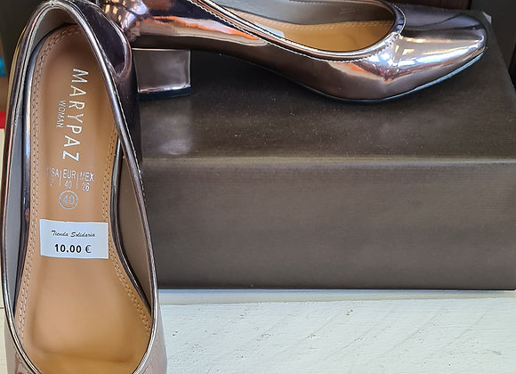 Zapatos plateados Marypaz
