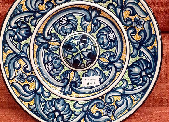 Plato decorativo formas orgánicas