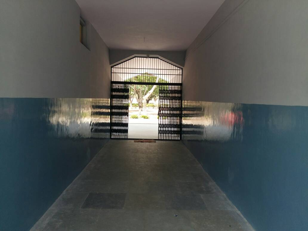 INSIDE HALL OF BOYS TEMPORARY DORM