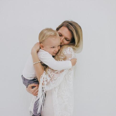 mom holding her child in corpus christi texas
