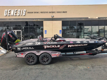New Vexus Boat Wrap by Genesis Graphics