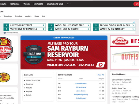 Bass Pro Tour: STAGE ONE - Sam Rayburn Res. 3/21 - 3/26