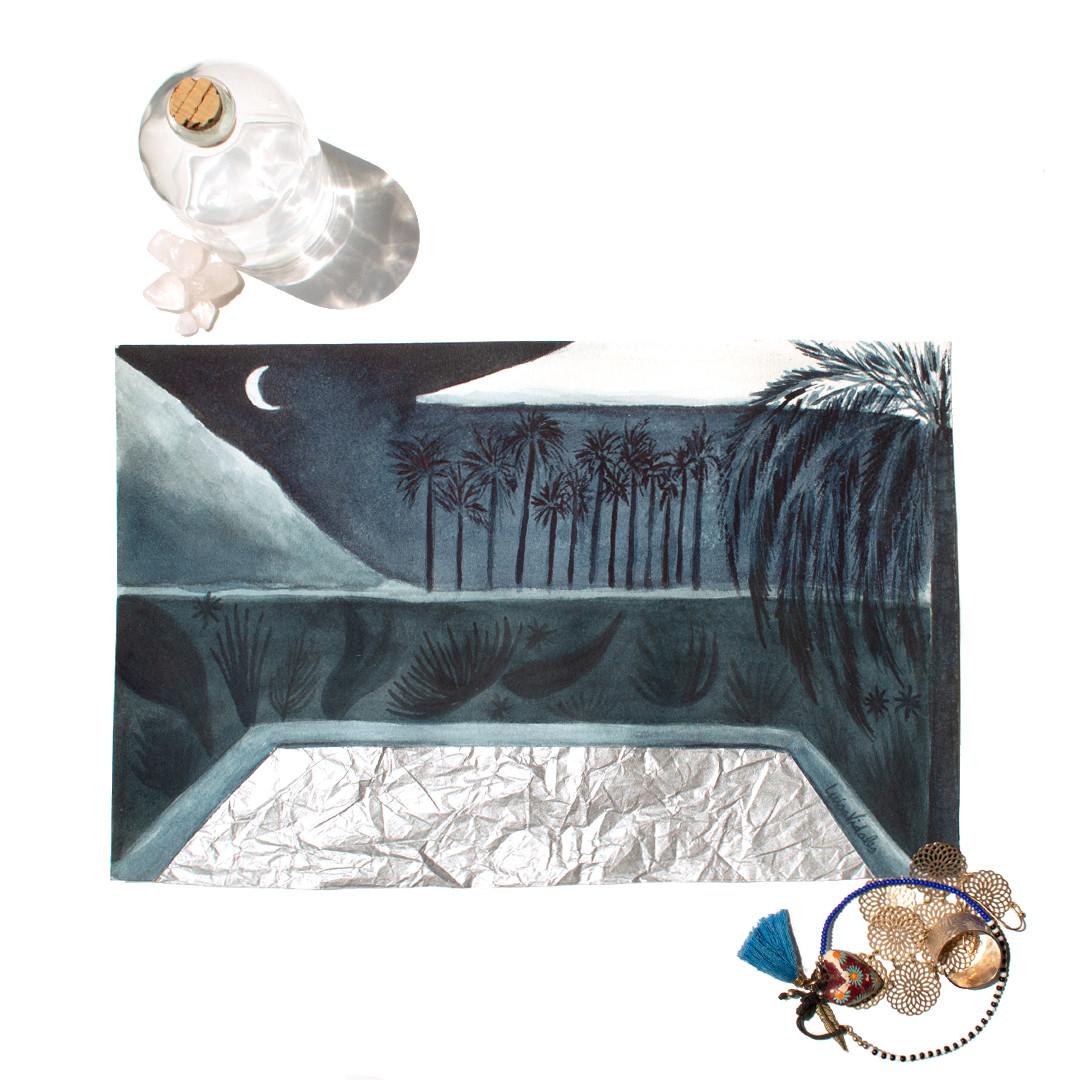 Alberca bajo las estrellas | Alberca de plata
