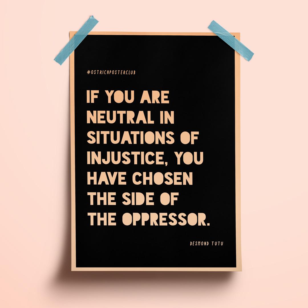 Ostrich Poster Club | Black Lives Matter
