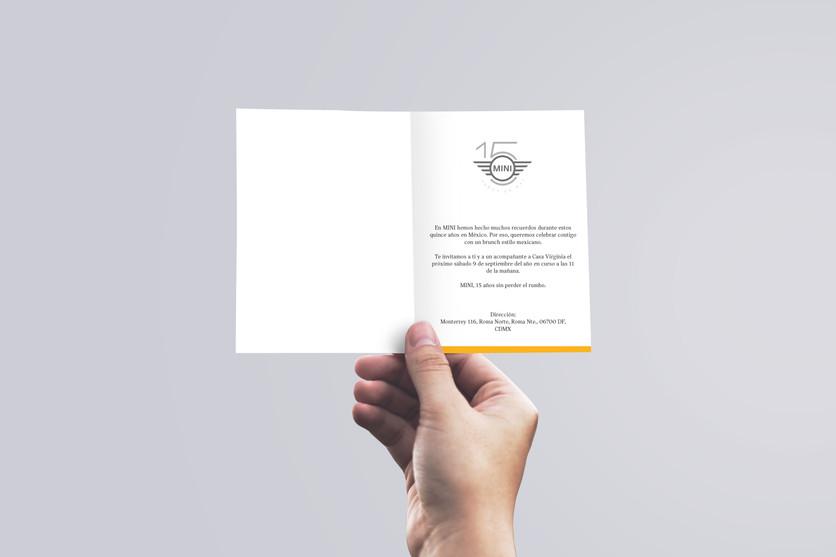 Invitación al evento de lanzamiento