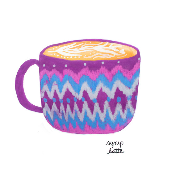 Syrup latte
