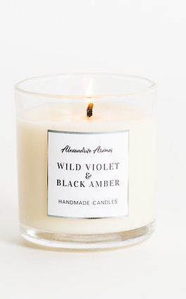 Wild Violet and Black Amber - Small Vogue Candle