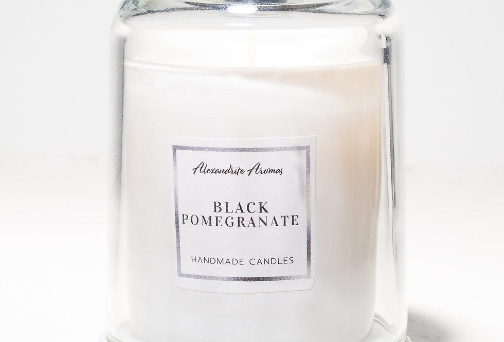 Black Pomegranate Cloche Candle