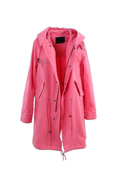 Pinker Trench Coat - Midi