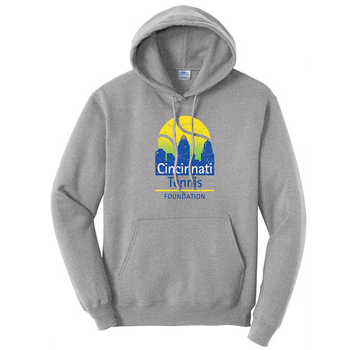Cincinnati Tennis Foundation Hoodie - Athletic Heather