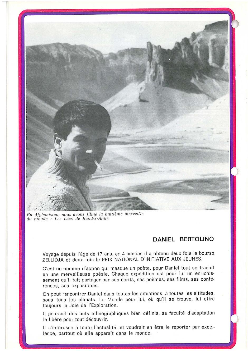 Daniel Bertolino, avant le Canada