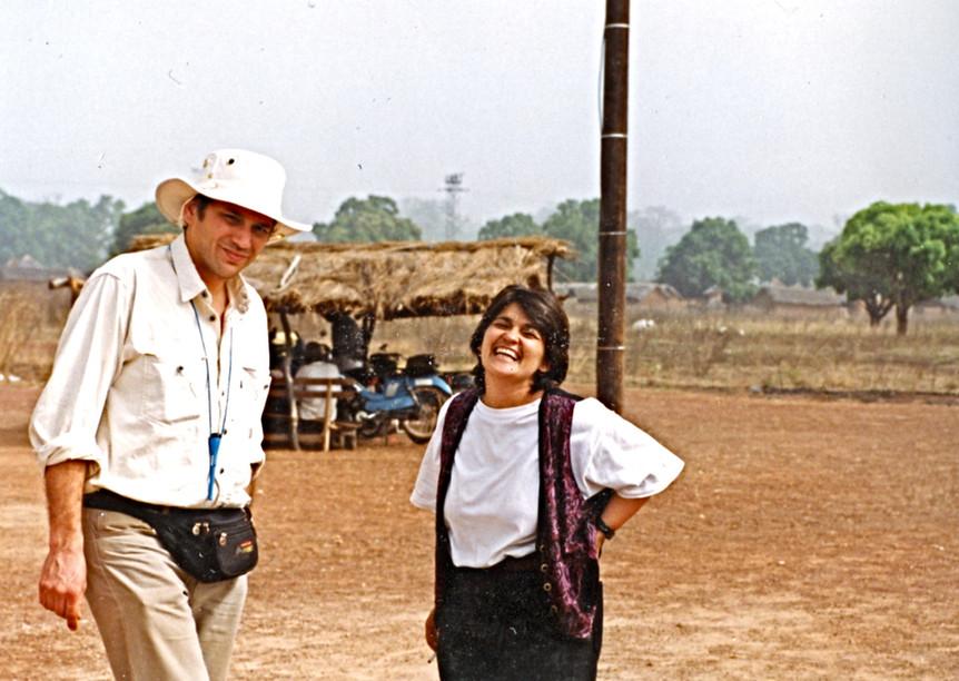 Avec Isabelle Rivard en Côte d'Ivoire