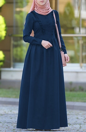 navy blue fırfılı dress