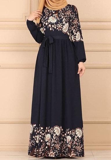 design navy blue dress