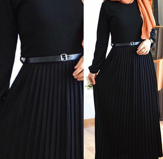 TRIKO DRESS - black