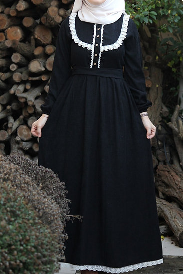 Çalıkuşu black dress