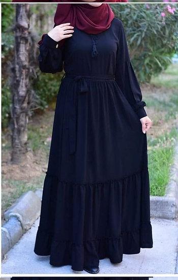F - black dress