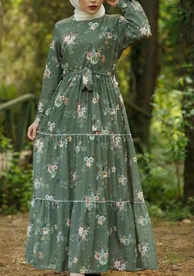 Floral  summer dress MINT