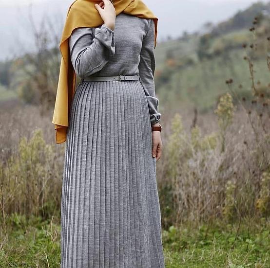 F-TRIKO DRESS - gray
