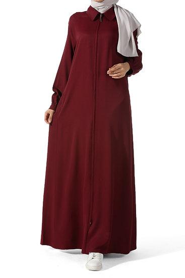 allday abaya blue قالب واسع