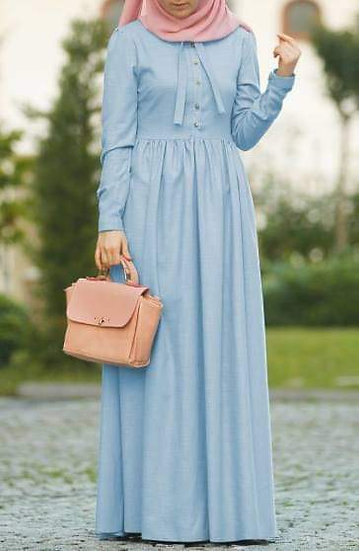 F-Light Blue Dress