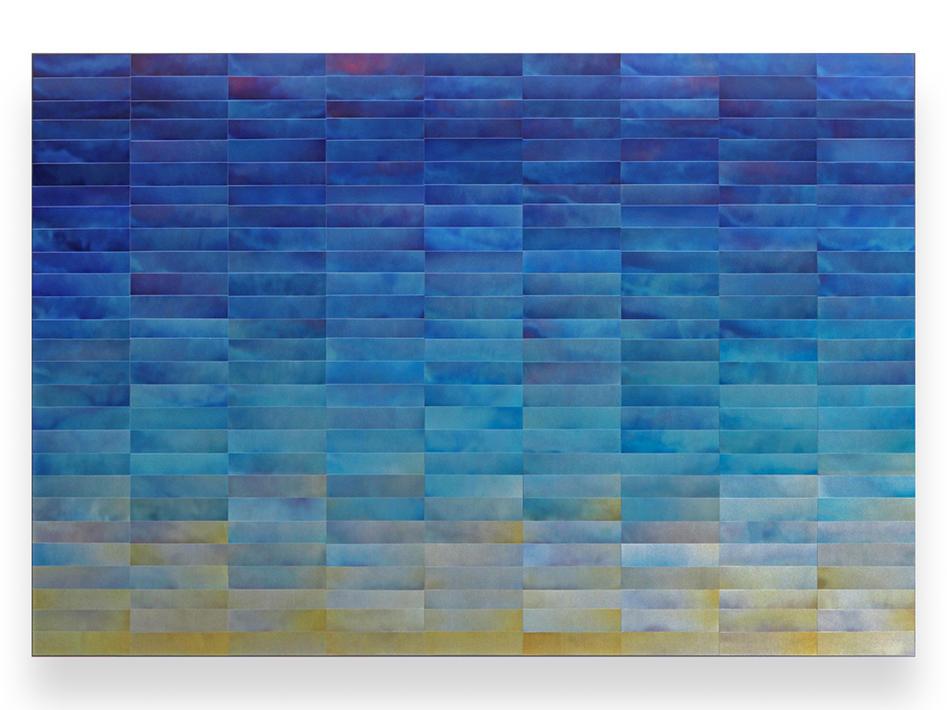 Cobalt Blue Wall Sculpture