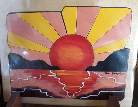 Flat puzzle - Environmental sunset