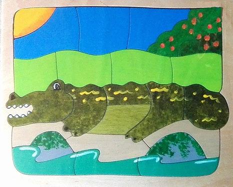 Flat puzzle - Crocodile