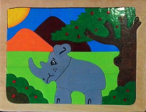 Flat puzzle - Elephant
