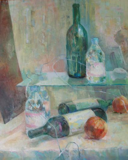 2004.Stillleben mit Glas