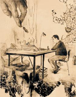 2007.in his atelier