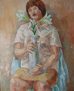 2004.花瓶を持つ人
