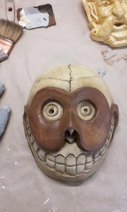 Masque en latex et mousse polyuréthane