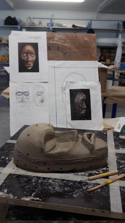 Sculpture masque africain