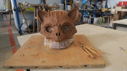 Masque chat d'après le travail de Francesco Sanseverino