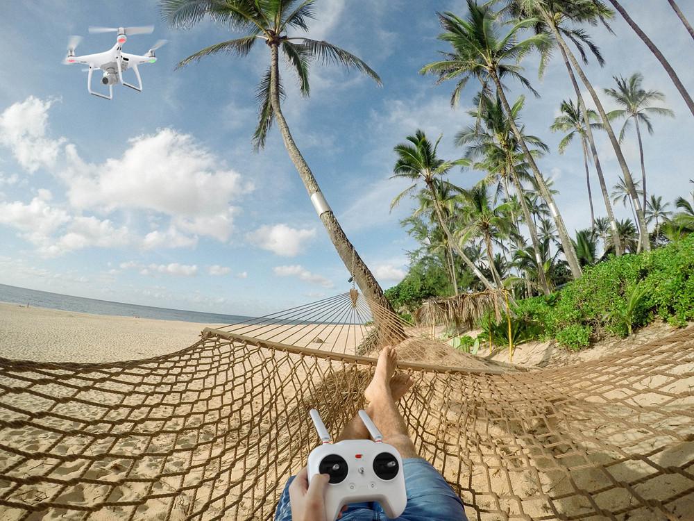 Reisen, Urlaub Ausland mit Drohne