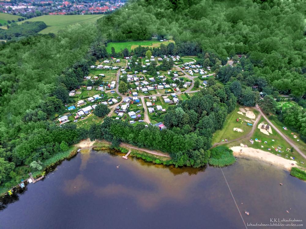 Luftaufnahme Luftbild See Campingplatz