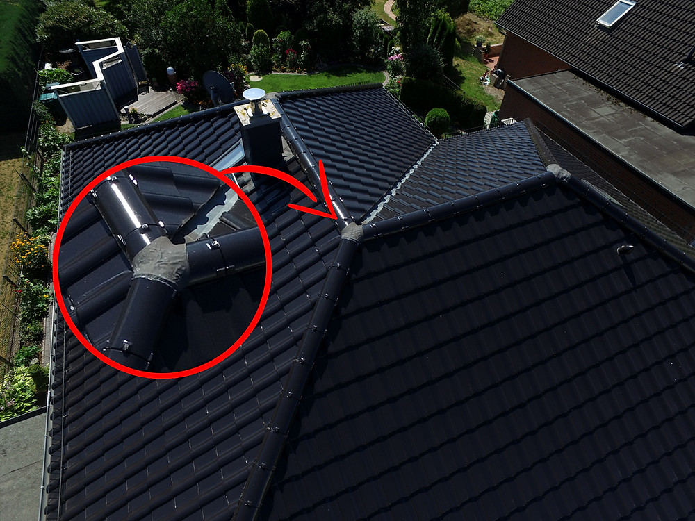 Dachwartung und Dachinspektion mit Drohne