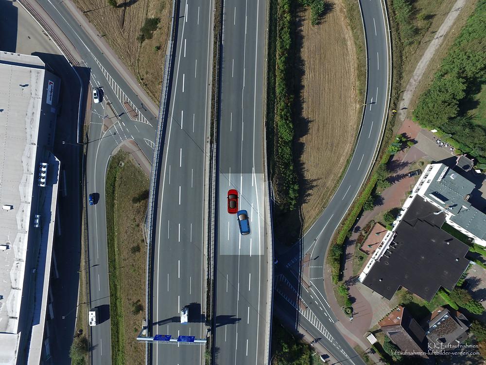 Luftbilder Luftaufnahmen für Sachverständige Sachverständigenbüros Unfall Schaden
