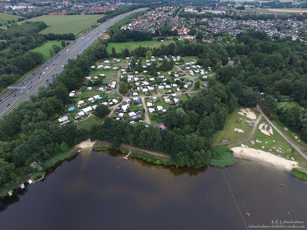 Luftbilder Luftaufnahmen vom See Campingplatz aus der Luft