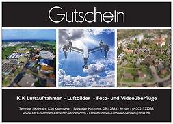 Gutschein für Luftaufnahmen Luftbilder
