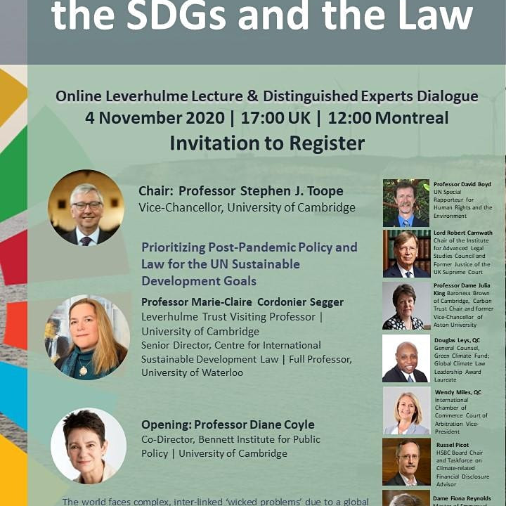 Pandemic Recovery, the SDGs and the Law