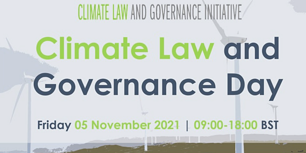 2021 UNFCCC CoP26 Climate Law and Governance Day