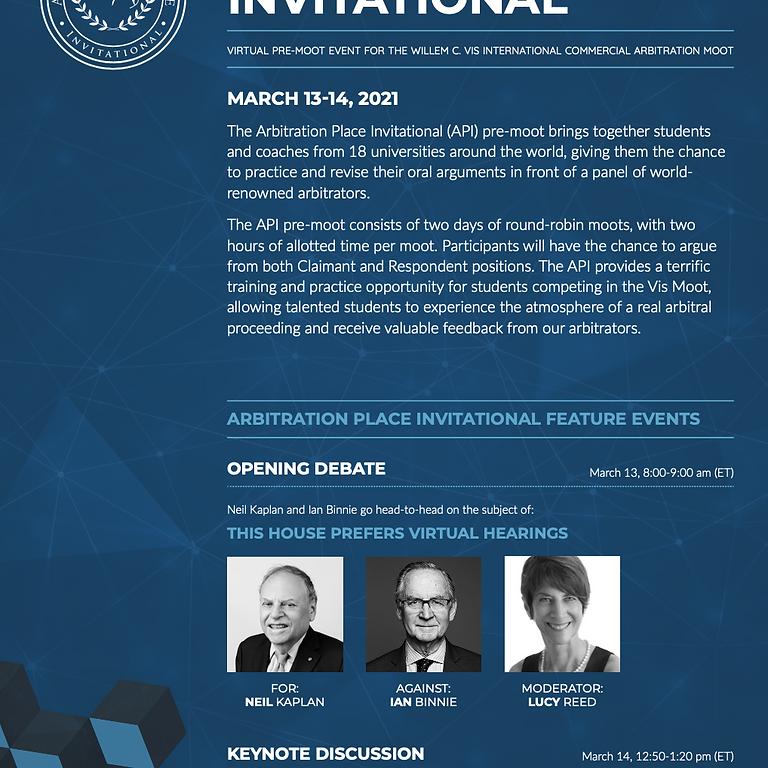 Arbitration Place Invitational Vis Pre-Moot