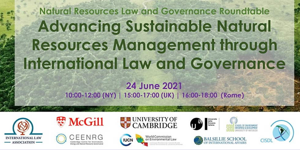 Natural Resources Law and Governance Roundtable 2021