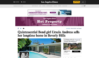 Quintessential Bond girl Ursula Andress sells her longtime home in Beverly Hills