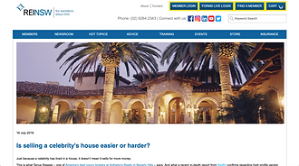 Is selling a celebrity's house easier or harder?