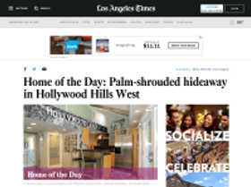 Home of the Day: Palm-shrouded hideaway in Hollywood Hills West